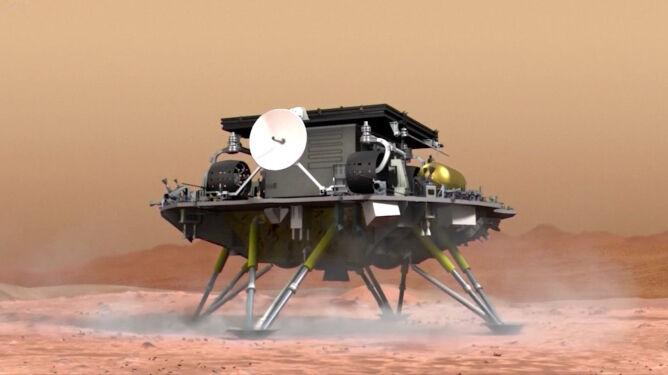 Tak mogło wyglądać lądowanie chińskiej sondy na Marsie