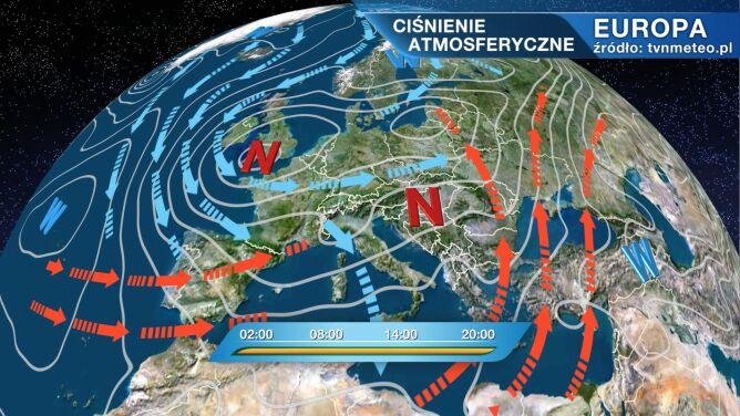 Niż Arne wpływa na pogodę w Polsce
