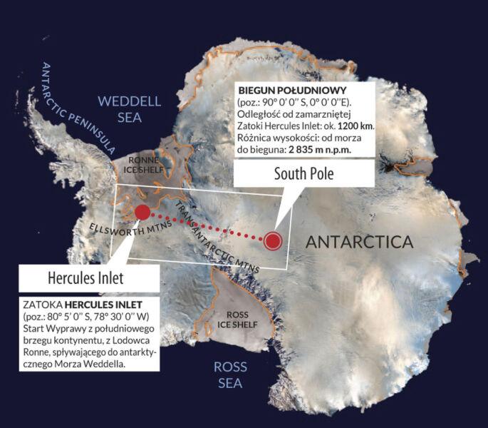 Mapa Antarktydy