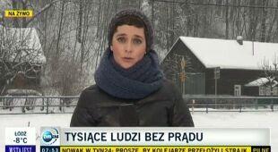 Małgorzata Kukuła o awarii prądu w Małopolsce (TVN24)
