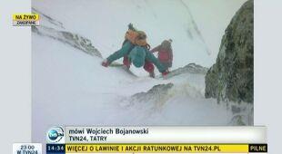 Reporter TVN24 z Tatr o warunkach w górach (TVN24)