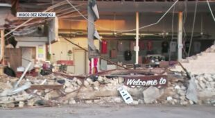 Zniszczenia po gwałtownej burzy w Teksasie