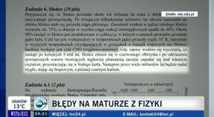 Błąd na maturze z fizyki (TVN24)