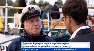 O rejsie mówi kapitan Krzysztof Baranowski (TVN24)